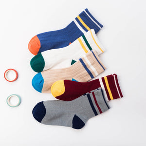 5pair Comfort Newborn Boy Knit Soft Socks