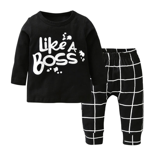 New Baby Boys 2pcs Like A Boss Pants set