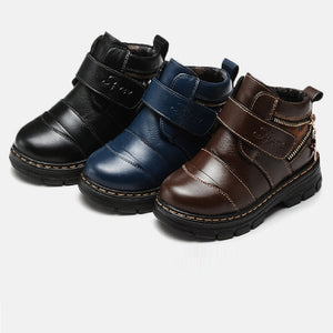 Baby Boys Stylish Buckle Leather Dress Shoes