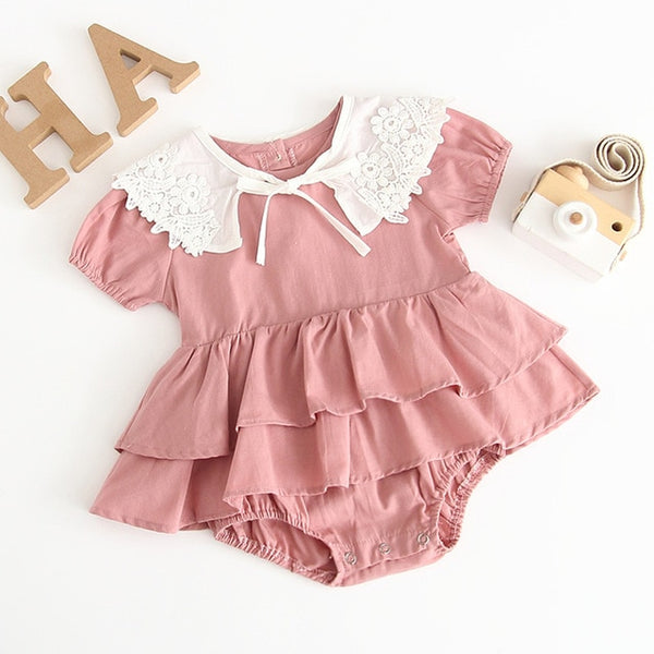 Baby Girls Summer Flower Romper Dress