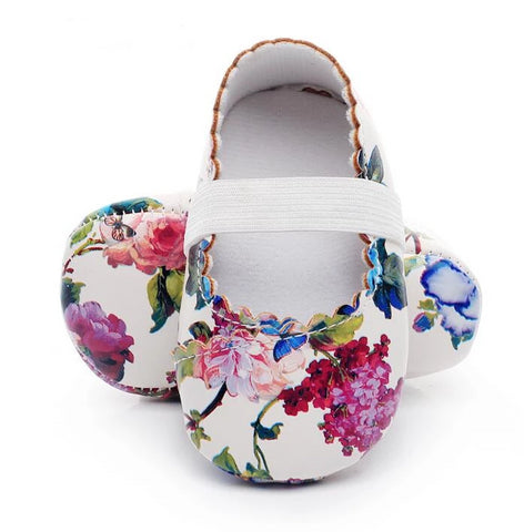 Baby Girls Floral Princess Ballet Shoes