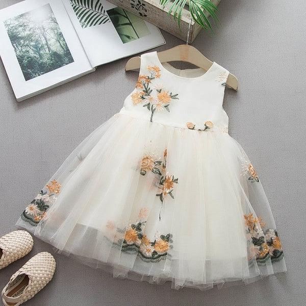 Baby Girls Embroidery Flower Dresses