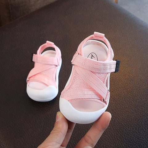 Baby Girls Mesh Shoes Non-Slip Breathable Shoes