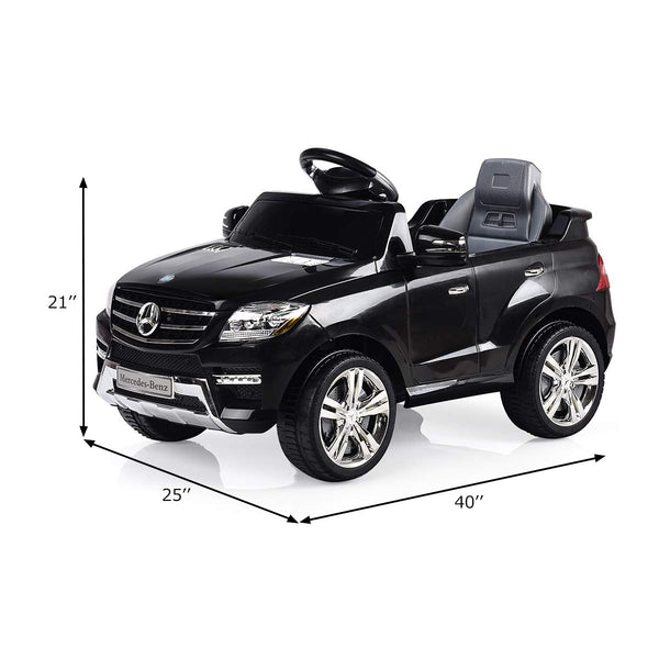 Mercedes Benz ML350 6V Electric Kids Ride On Car Licensed MP3 RC Remote Control-Black C230
