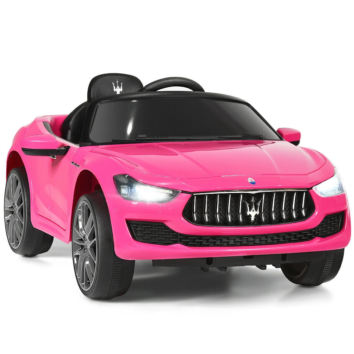 12 V Remote Control Maserati Licensed Kids Ride on Car-Pink C294