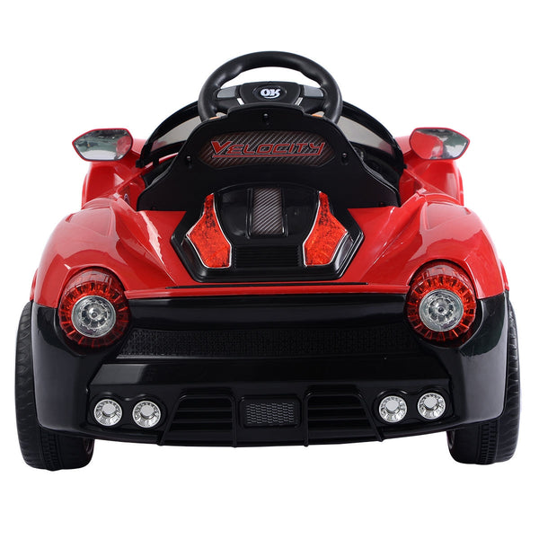 12V RC LED Lights Battery Powered Kids Riding Car-Red C250