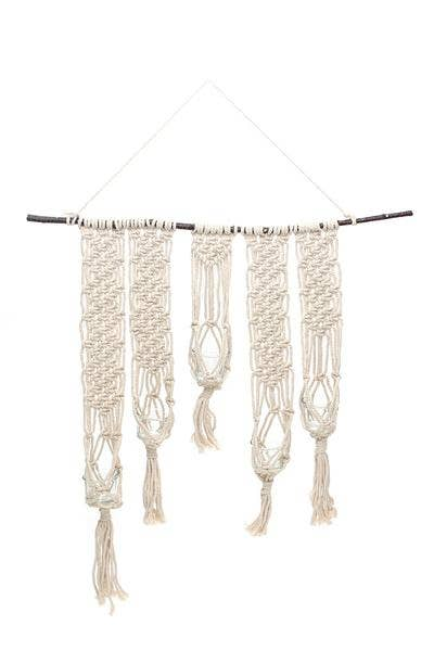 Macrame Wall Candle Holder