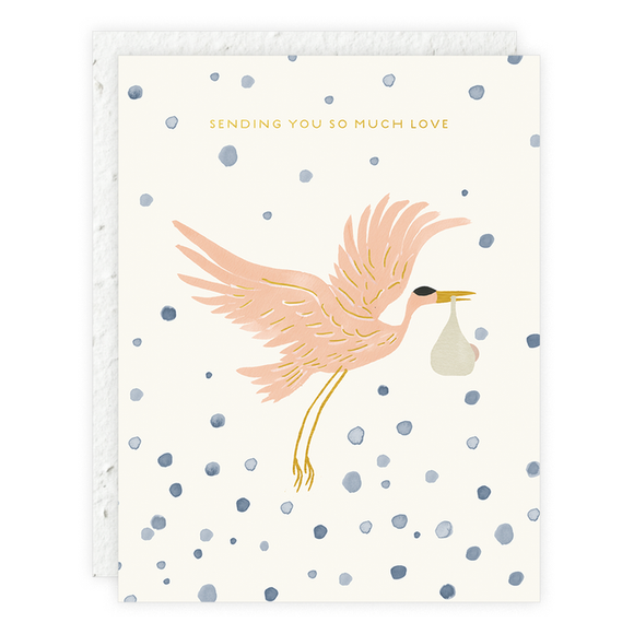Stork Delivery Plantable Card