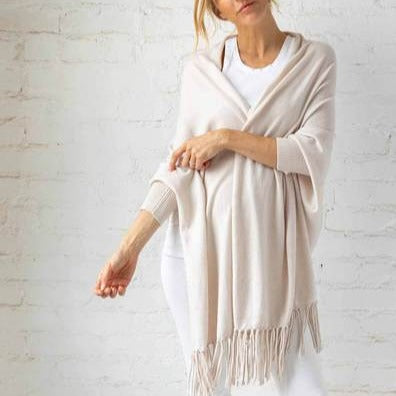 The Cashmere Sleeved Wrap