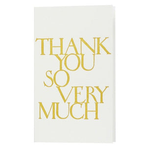 """thank you so very much"" Stonecarved Note Card"