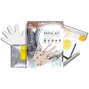 All-In-One Disposable Mani Kit with Shea Butter Gloves