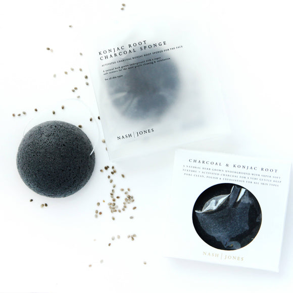 Charcoal Konjac Face Sponges