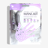 All-In-One Disposable Mani Kit with Lavender Gloves