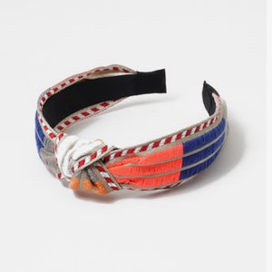 Fabric Knot Color block Headband