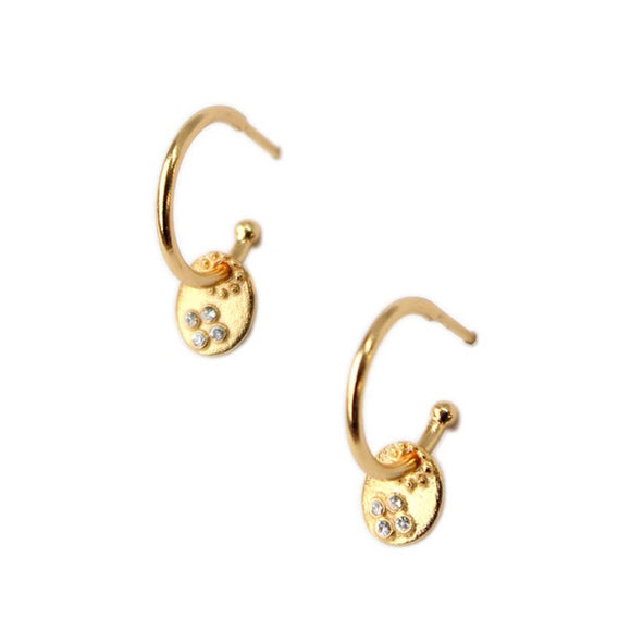 Fiore Gold Hoop Earrings