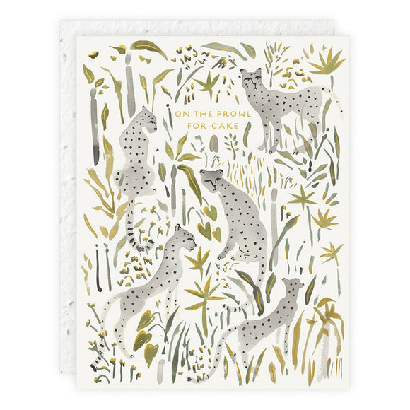 Cheetahs Birthday Plantable Card