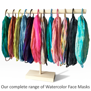 Silk Watercolor Face Mask