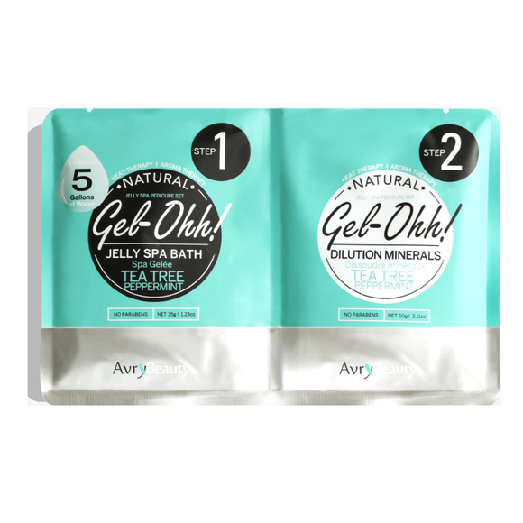 Tea Tree & Peppermint Gel-Ohh Jelly Spa Pedi Bath