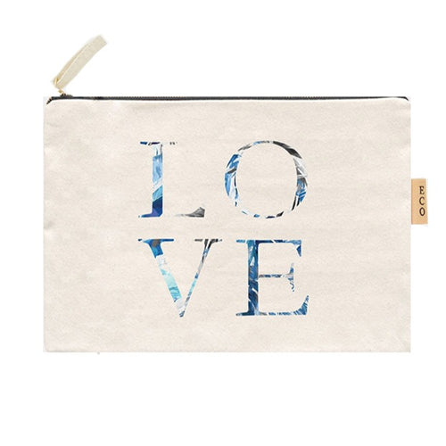 Love Summer Canvas Pouch
