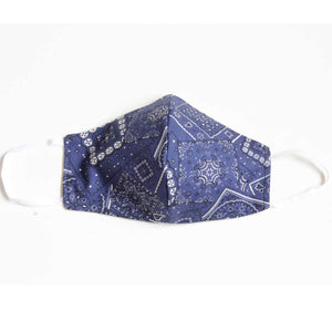 Blue Bandana Face Mask with Filters