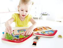 Load image into Gallery viewer, Big Top Circus Kid's Wooden Magnetic Travel Book with Accessories