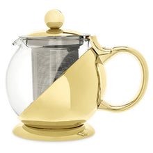 Load image into Gallery viewer, Shelby™ Gold Wrapped Teapot & Infuser