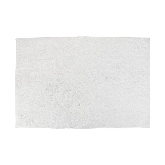 Non-Slip White Cotton Bath Mat Rug 20 x 30