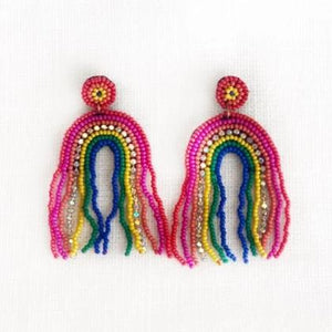 Beaded Rainbow Earring