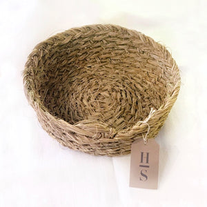 Organic Handwoven Straw Grass Basket
