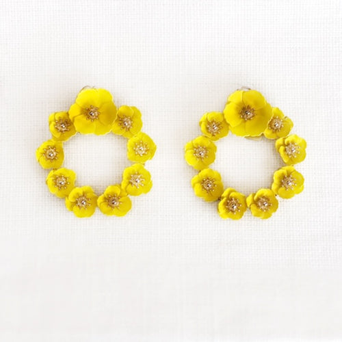 Sunny Magnolia Earrings