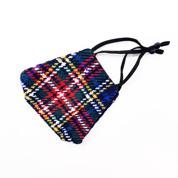 plaid check flannel face mask