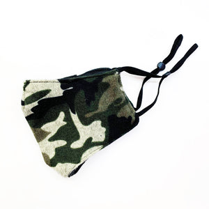 camo felted face mask
