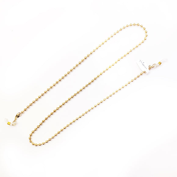 gold ball link mask chain