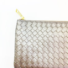 Load image into Gallery viewer, Woven Vegan Leather Crossbody Clutch