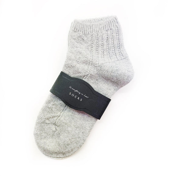 Wool Knit Ankle Socks