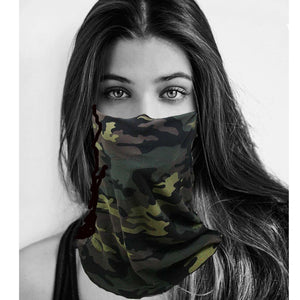 Green Camo Necker Mask