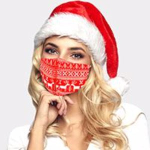 Christmas Nordic Sweater print Face Mask