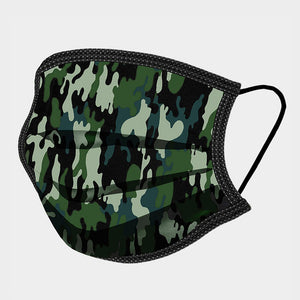 Camouflage Print Cotton Mask