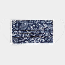 Load image into Gallery viewer, Chic Navy Paisley Cotton Mask