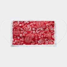 Load image into Gallery viewer, Chic Red Paisley Cotton Mask