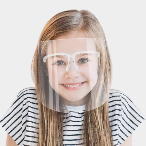 kids eyeglass face shield