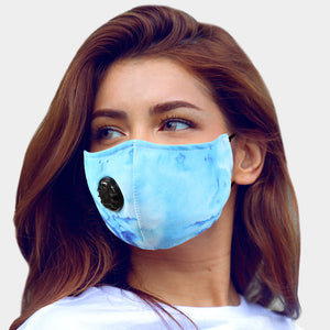Cloud Tie Dye Mask with valve