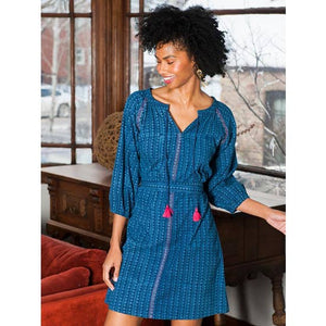 indigo raglan tunic dress