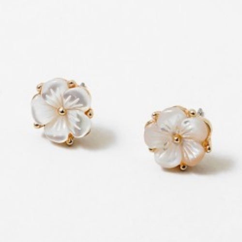 Mother of Pearl Flower Studs