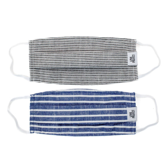 Nautical Stripe Elastic Face Masks