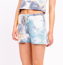 Load image into Gallery viewer, Blue Tie-Dye Shorts