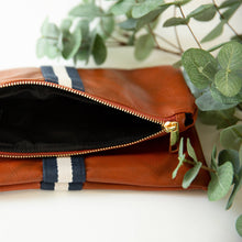 Load image into Gallery viewer, preppy stripe foldover clutch
