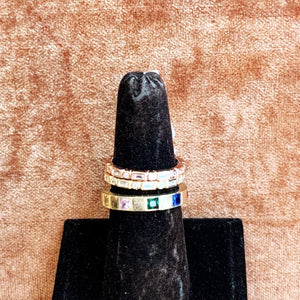 Gold Band Stoned Rings