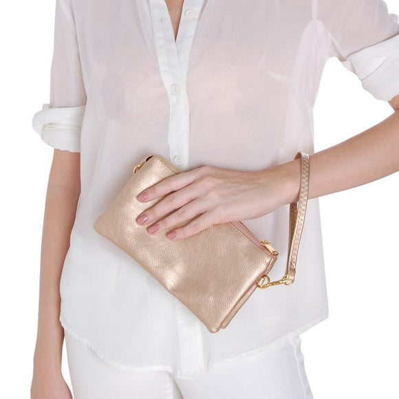 Vegan Leather Crossbody Clutch