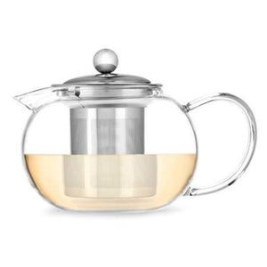 Candace Clear Glass Teapot and Infuser